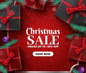Christmas day sale card vector