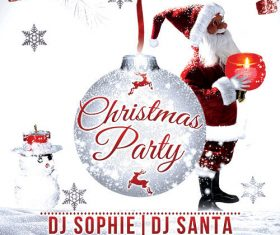 Christmas event party flyer psd template