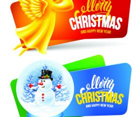 Christmas gift card banner vector