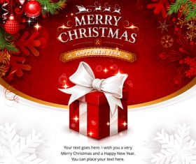 Christmas gift sale cover vector