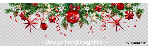 Christmas holiday banner vector