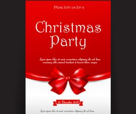 Christmas invitation card tag banner vector