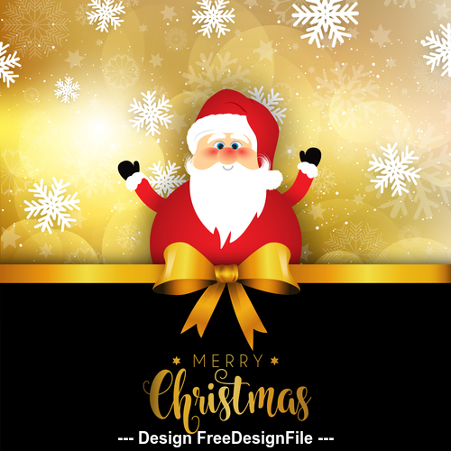 Christmas santa on snowflake background vector