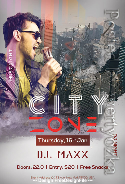 City Zone Poster and Flyer Psd Template