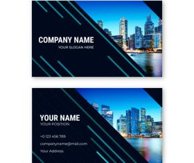 City building template design card vector