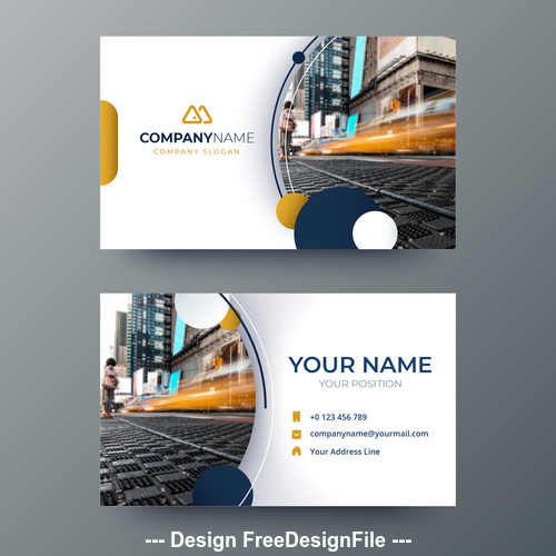 City page business card design vector