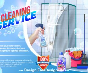 Cleaning service vector background