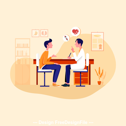 Clinic illustration vector