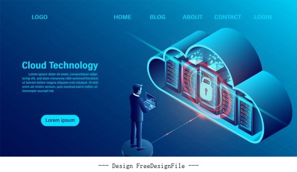 Online computing technology vector