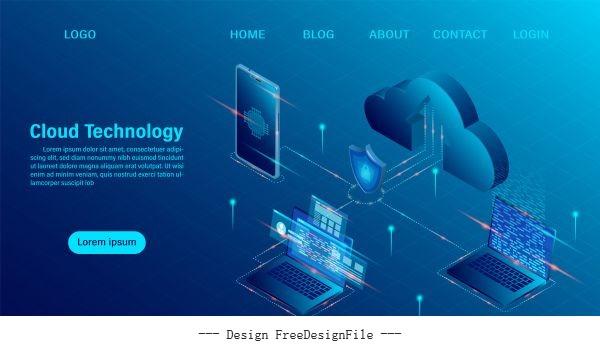 Big Data Flow Processing Concept 3d Servers Vector Free Download