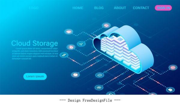 Big data flow processing concept illustration vector