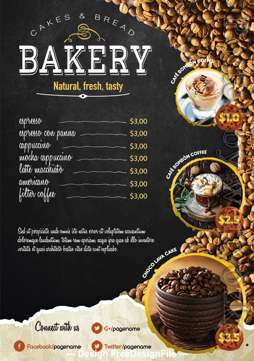 Coffee Shop Poster and Flyer PSD Template