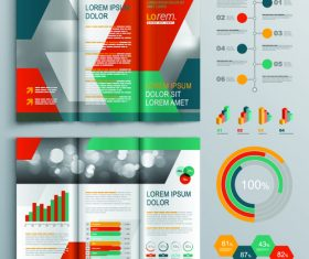 Color brochure and infographic flyer template vector