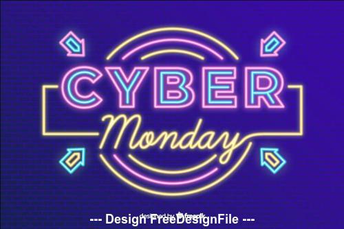 Color neon billboard special sale vector