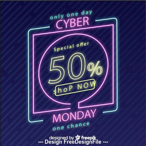 Color sale neon billboard vector