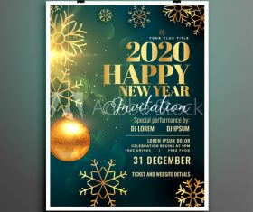 Colorful background new year party flyer template vector