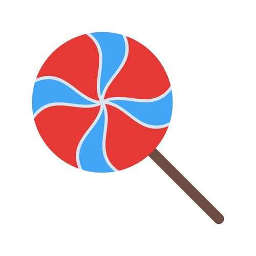 Colorful candy icon vector