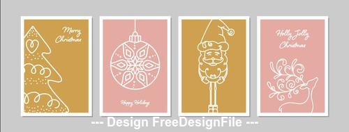 Colorful holiday greeting card collection vector