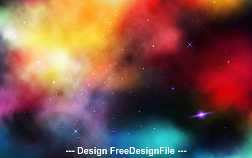 Colorful stardust space background vector