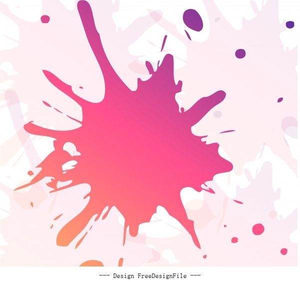Colorful paint splash illustration vector design