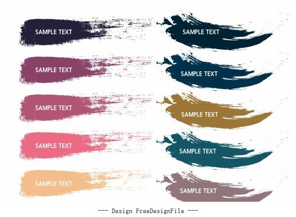 Colors codes templates grunge stroke vector