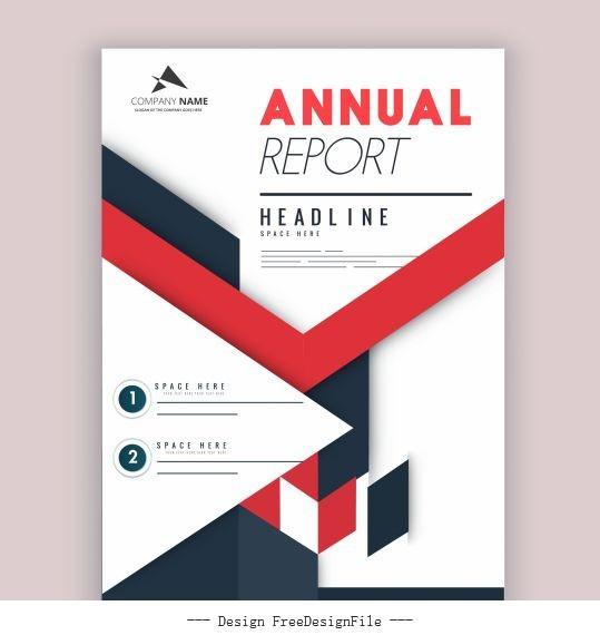Company annual report template colorful bright modern vector design