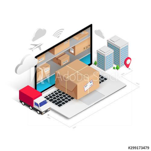 Concept logistics vector