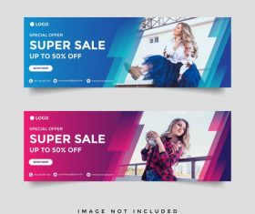 Corporate brand advertising banner vector