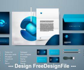 Corporate brand identity template vector 01