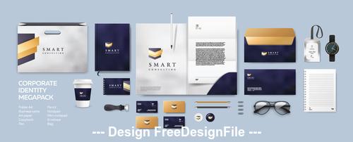 Corporate brand identity template vector 02