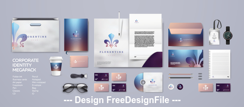 Corporate brand identity template vector 03