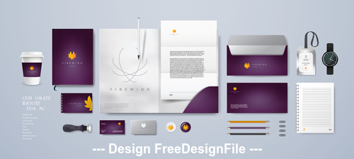 Corporate brand identity template vector 04