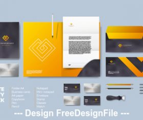 Corporate brand identity template vector 06