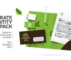 Corporate brand image design vector on green background