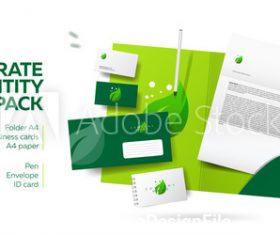 Corporate branding identity design vector
