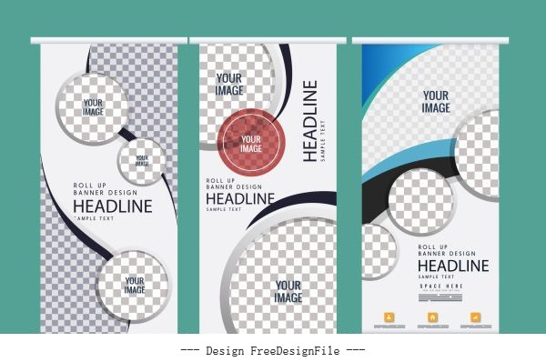 Corporate banner template vector design