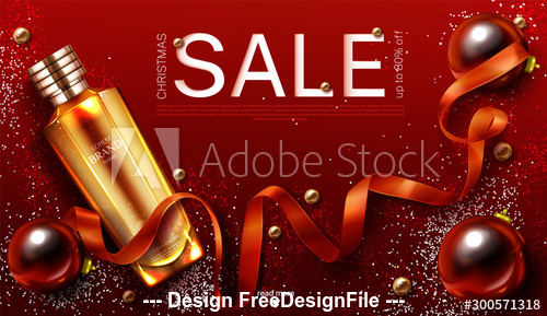 Cosmetics advertising poster vector
