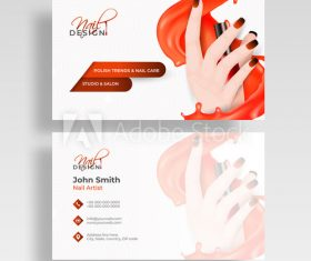 Cosmetics business card design vector