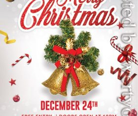 Crearive Merry Christmas Poster and Flyer PSD Template