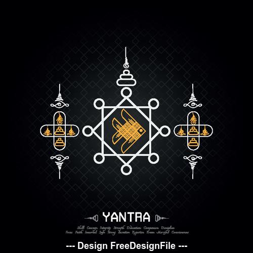 Creative abstract fashion tattoo vector