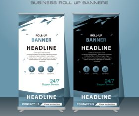 Creative template roll up banners vector