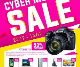 Cyber Monday Sale Flyer Psd Template