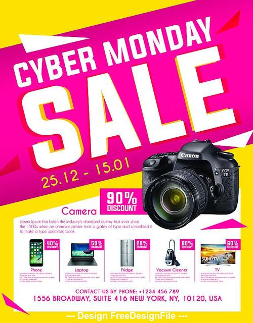 Cyber Monday Sale Flyer Psd Template