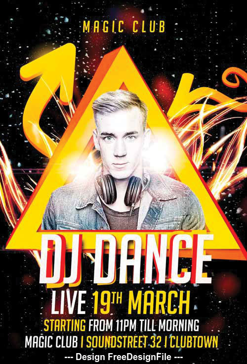 DJ Dance Flyer PSD Template