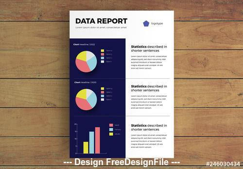 Data report Infographic layout with charts vector