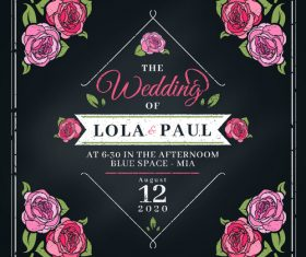 Decorative design elements wedding invitation vector