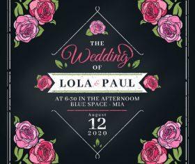 Decorative design elements wedding invitation vector