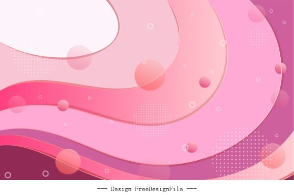 Decorative abstract background bright transparent pink curves vectors