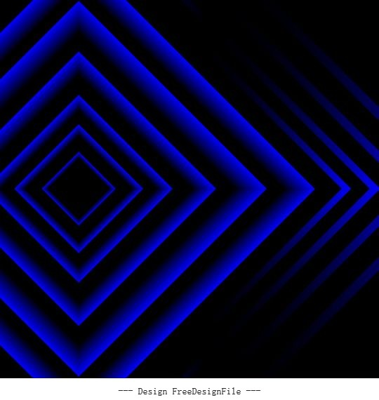 Decorative background dark blue symmetric geometric vector