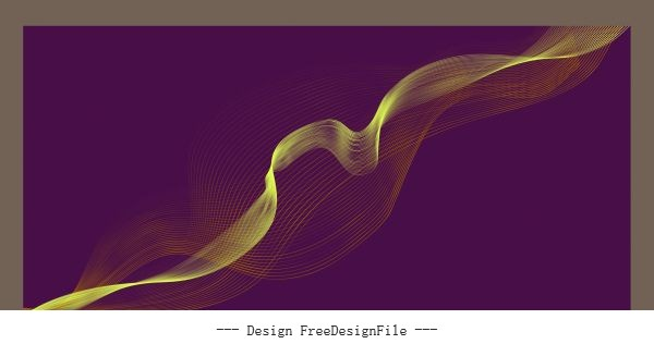 Decorative background dynamic 3d waving lines illustration vector